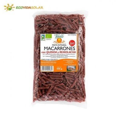 Macarrones con quinoa y remolacha bio - Vegetalia