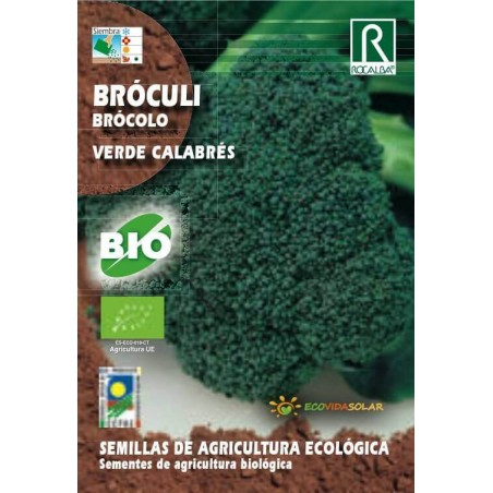 Semillas Ecológicas de Brócoli verde calabrés bio - Rocalba