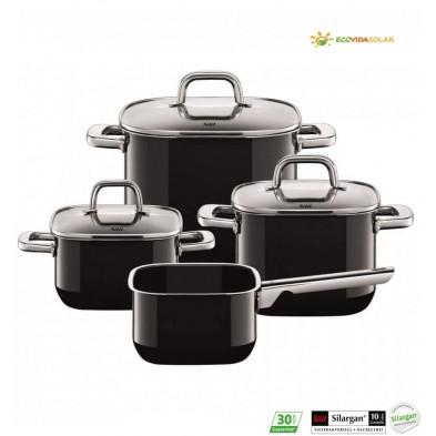 bateria-cocina-4-piezas-quadro-black-Silit-Ecovidasolar