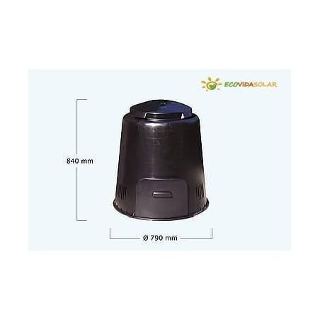 Compostadora-Eco-Composter-Graf-Ecovidasolar-negra