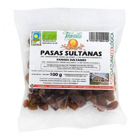 20-68 Pasas sultanas bio - Vegetalia - Ecovidasolar.