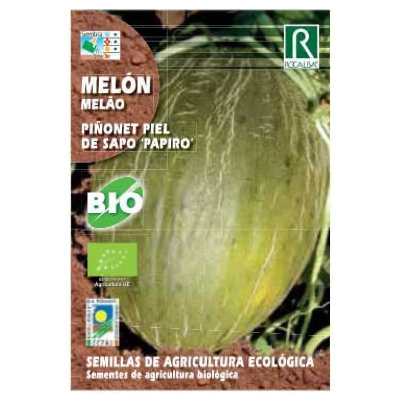 Semillas-melon-piñonet-piel-de-sapo-papiro-Rocalba-Ecovidasolar