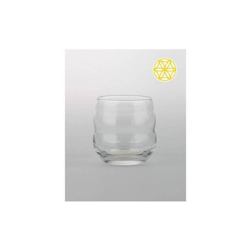 Vasos Mythos - Flor de la vida en oro - Natures Design - Ecovidasolar