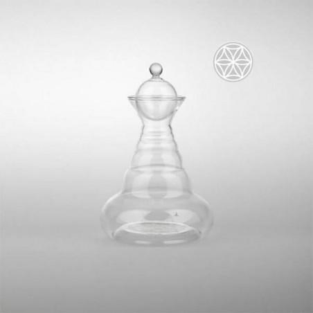 Jarra Delicate con flor de la vida en blanco - Natures Design - Ecovidasolar