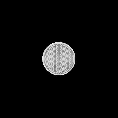 Flor de la vida en platino -Natures Design