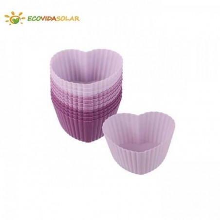 Moldes de silicona ecológica magdalenas corazón