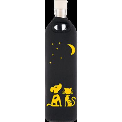 Botella de vidrio neo design luz de luna - Flaska