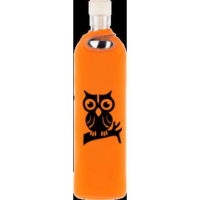 Botella de vidrio neo design búho en la rama - Flaska