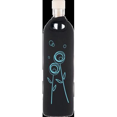 Botella de vidrio neo design diente de león - Flaska