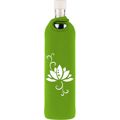 Botella de vidrio neo design flor de loto - Flaska