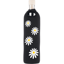 Botella de vidrio neo design margaritas - Flaska
