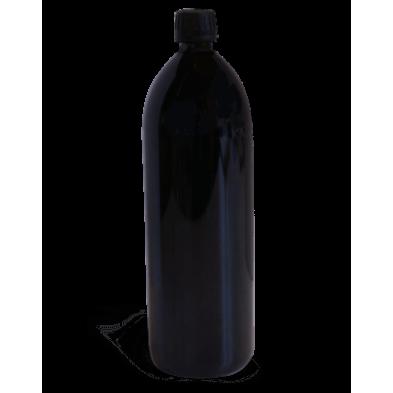 Botella de vidrio violeta para agua