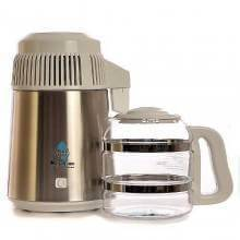 Destiladora de agua blanca con jarra y filtro de vidrio - Megahome