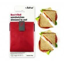 sandwich-wrapper-bocnroll-square-pack-red Porta Bocadillo Boc'N'Roll Square rojo Ecovidasolar 1