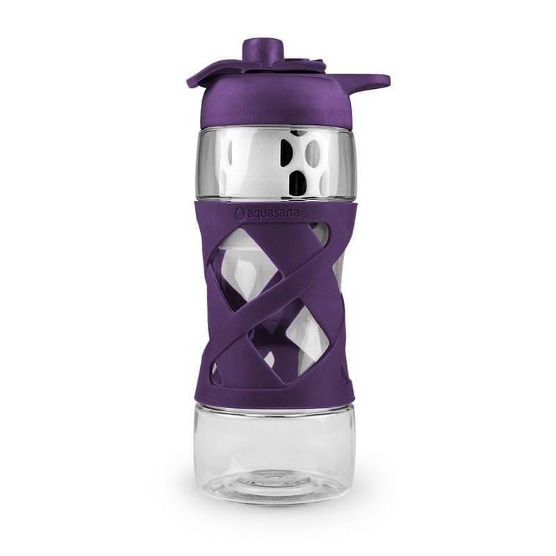 Botella Tritan con filtro - Plum - Aquasana - Ecovidasolar