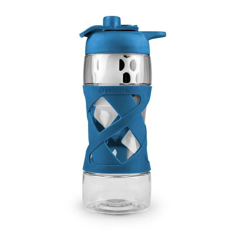 Botella Tritan con filtro - Azul - Aquasana - Ecovidasolar