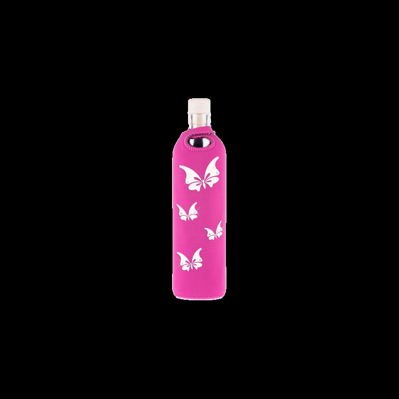 Botella de vidrio neo Lady Swarovski- Flaska - Ecovidasolar