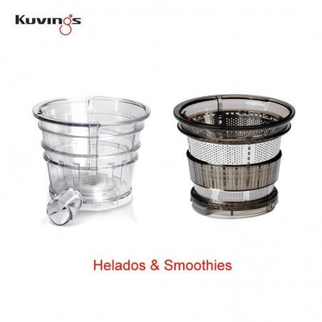 Set de filtros para Smoothies y Helados - Extractor de zumos profesional Kuvings CS600