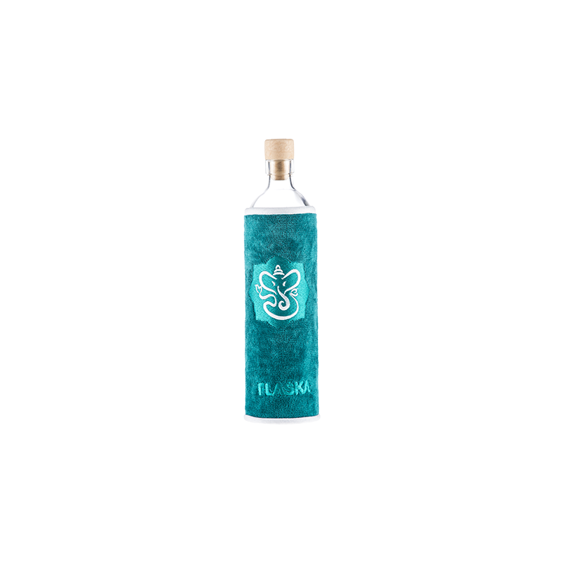 Botella de vidrio Spiritual Ganesha - Flaska - Ecovidasolar