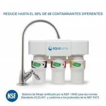 Sistema de filtraje 3 etapas bajo encimera AQ 5300 Aquasana - cromado - Ecovidasolar