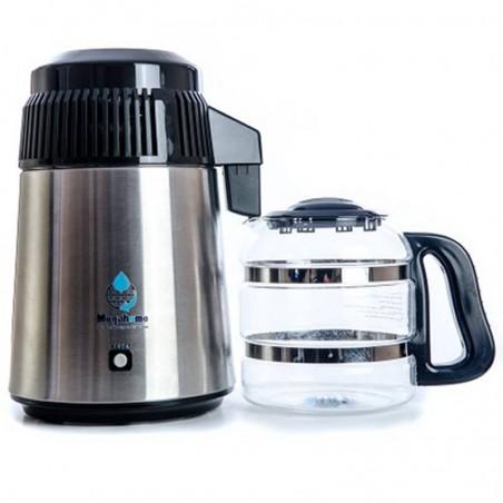 Destiladora de agua negra con jarra de cristal - Megahome