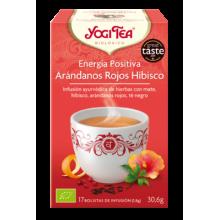 Energía Positiva - Arandanos Rojos Hibisco Yogi Tea - Biológico - Ecovidasolar