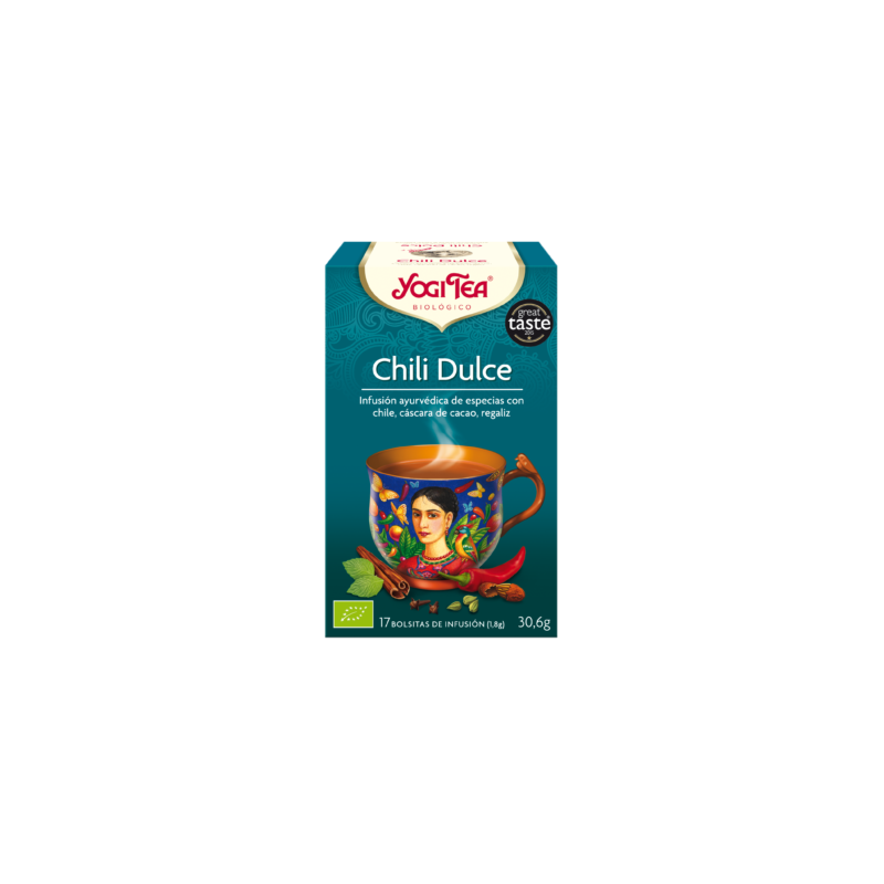 Chili Dulce Yogi Tea - Biológico - Ecovidasolar