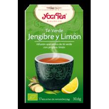 Té Verde Jengibre y Limón Yogi Tea - Biológico - Ecovidasolar