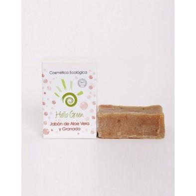 Jabón de Aloe vera y Granada - Hellogreen - Ecovidasolar