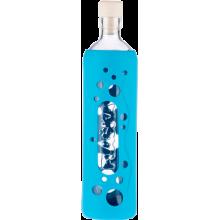 Botella de vidrio grip diseño laguna azul - Flaska - Ecovidasolar