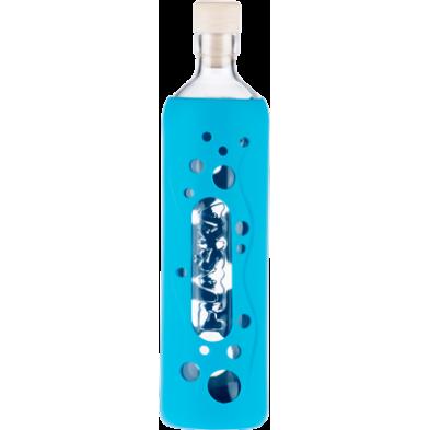 Botella de vidrio grip diseño laguna azul - Flaska