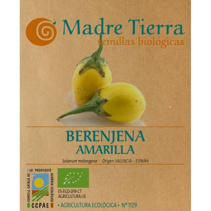 Semillas de berenjena amarilla bio - Madre Tierra - Ecovidasolar