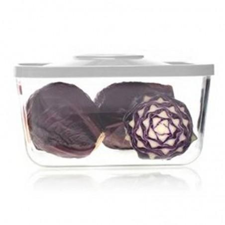 Recipiente de vidrio de borosilicato rectangular al vacío - Status -3,0 litros