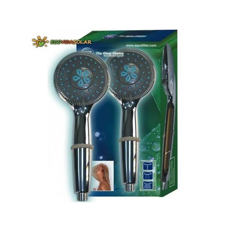 Cabezal ducha con filtro de carbón de coco y KDF integrado Aquafilter
