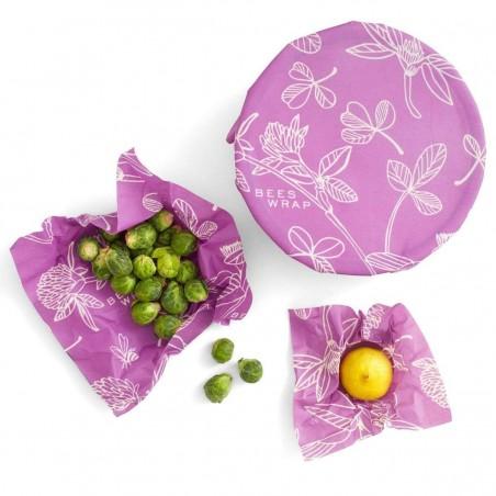 Pack de 3 envoltorios de abeja Mimi's Purple - Bee's Wrap