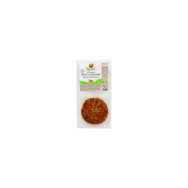 Vegeburguer de seitan con zanahoria bio - Vegetalia