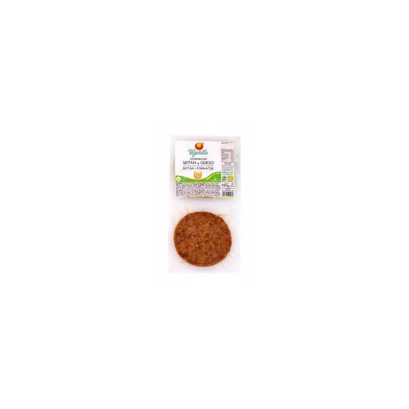Vegeburguer de seitan con queso bio - Vegetalia