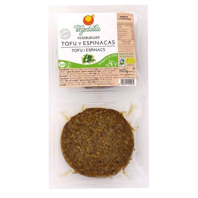 Vegeburguer de tofu y espinacas bio - Vegetalia