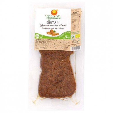 Seitan rebozado con ajo y perejil bio - Vegetalia