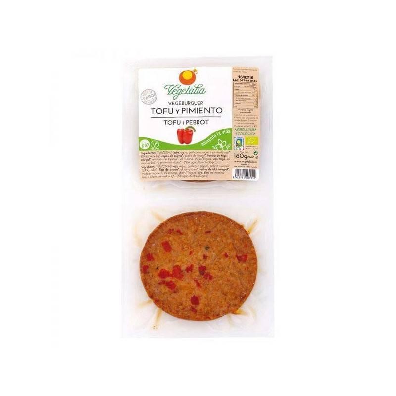 Vegeburguer de soja con pimiento rojo bio - Vegetalia