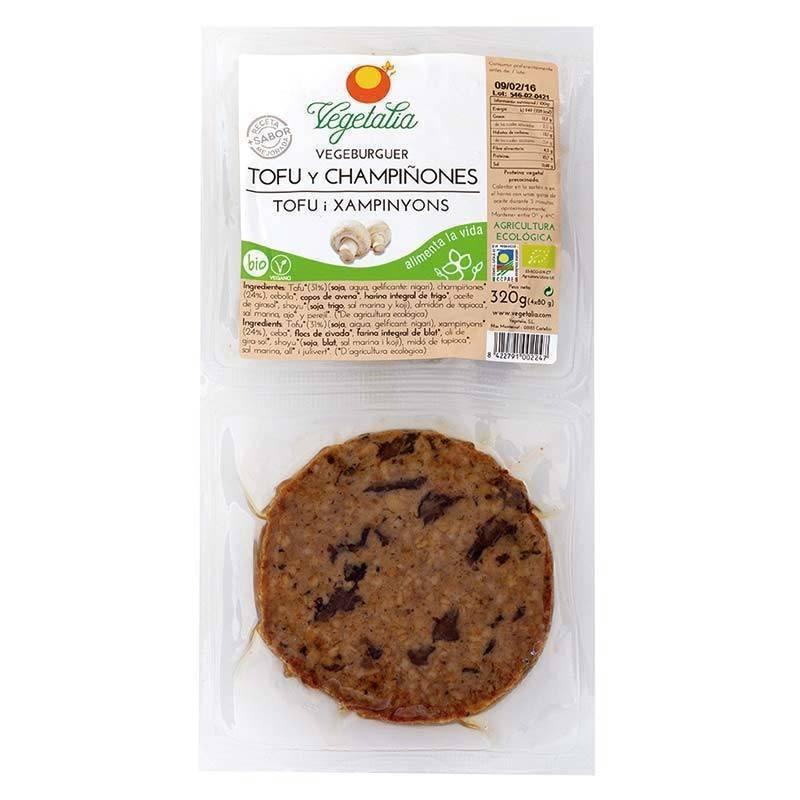 Vegeburguer de Tofu y champiñones bio - Vegetalia - Ecovidasolar