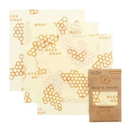 Pack de 3 envoltorios de Queso - Bee's Wrap - Ecovidasolar