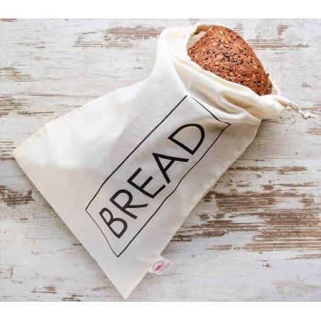 Bolsa de pan de algodón orgánico zero waste - Bread - ecovidasolar