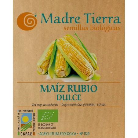 Semillas de maíz rubio dulce - Madre tierra - Ecovidasolar