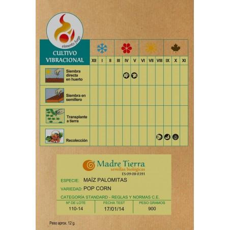 Semillas de maíz palomitas - Madre tierra - Ecovidasolar