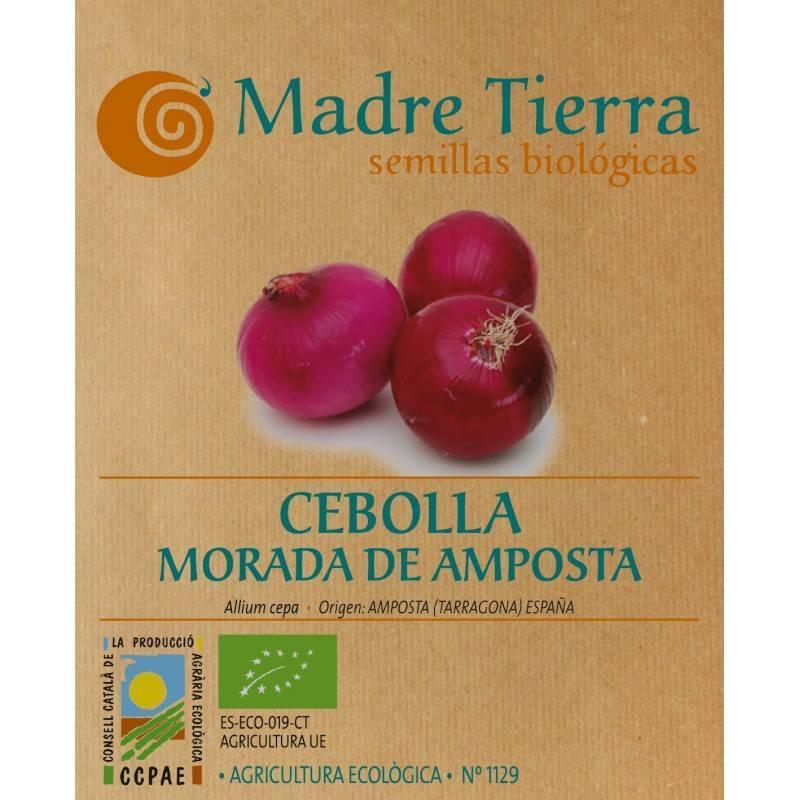 Semillas cebolla morada de amposta - Madre tierra - Ecovidasolar