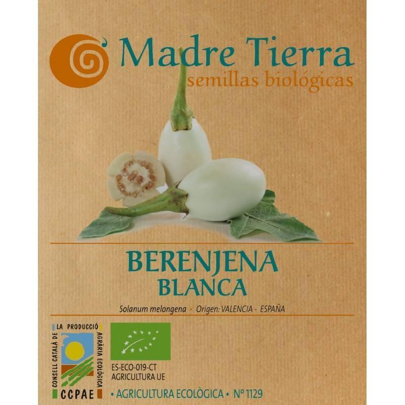 Semillas berenjena blanca - Madre tierra - Ecovidasolar