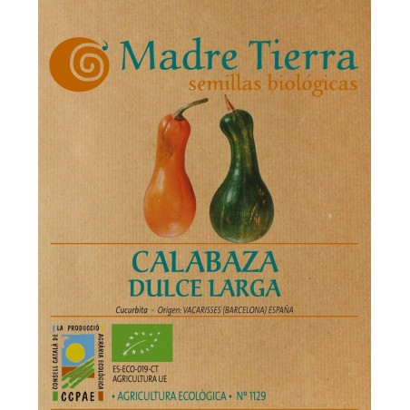 Semillas de calabaza dulce larga - Madre tierra - Ecovidasolar