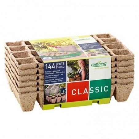 144 Semilleros biodegradables ecológico cuadrado 5 cm - Romberg