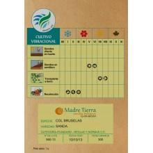 Semillas ecológicas de col bruselas - Madre tierra - Ecovidasolar